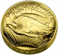 2009 UHR Double Eagle Gold Coin, Reverse - Click to Enlarge