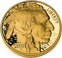 2009 American Buffalo Gold Proof Coin, Obverse (2008 version shown) - Click to Enlarge