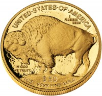 American Buffalo Gold Proof Coin, Reverse (2008 version shown) - Click to Enlarge