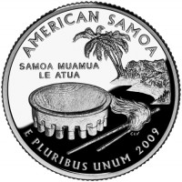2009 American Samoa Proof Quarter, Reverse - Click to Enlarge