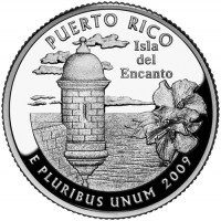 2009 Puerto Rico Proof Quarter, Reverse - Click to Enlarge