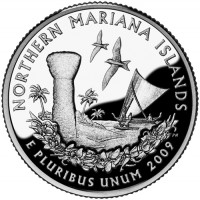 2009 Northern Mariana Islands Proof Quarter, Reverse - Click to Enlarge