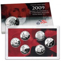 2009 DC & US Territories Quarters Silver Proof Set - Click to Enlarge