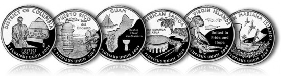 2009 Proof DC and US Territories Quarters - Click to Enlarge