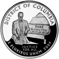 2009 District of Columbia Proof Quarter, Reverse - Click to Enlarge