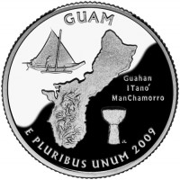 2009 Guam Proof Quarter, Reverse - Click to Enlarge