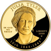2009 Julia Tyler First Spouse Gold Coin, Obverse - Click to Enlarge