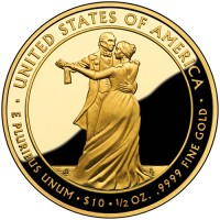 2009 Julia Tyler First Spouse Gold Coin, Reverse - Click to Enlarge