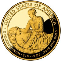 2009 Margaret Taylor First Spouse Gold Coin, Reverse - Click to Enlarge