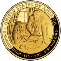 2009 Sarah Polk First Spouse Gold Coin, Reverse - Click to Enlarge