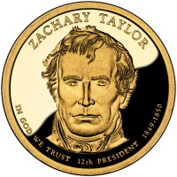 2009 Zachary Taylor Presidential $1 Proof Coin, Obverse - Click to Enlarge