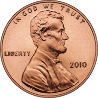 2010 Lincoln Uncirculated Cent Obverse