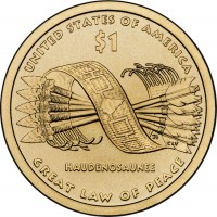 2010 Native American $1 Coin Reverse