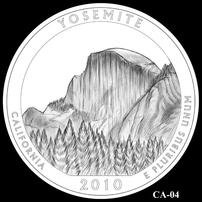 2010 Yosemite California S America the Beautiful Quarter Proof
