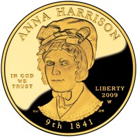 2009 Anna Harrison First Spouse Gold Coin, Obverse - Click to Enlarge