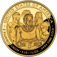 2009 Anna Harrison First Spouse Gold Coin, Reverse - Click to Enlarge