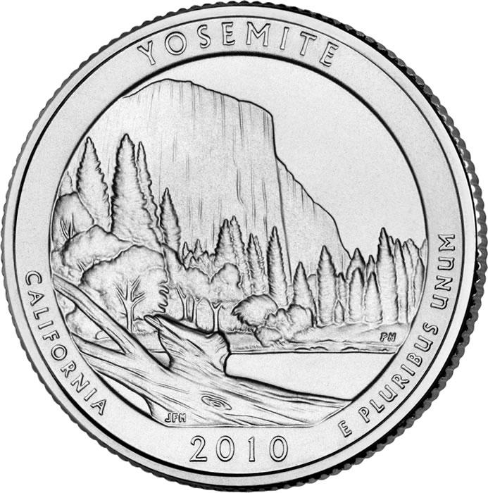 "2010 P Yosemite National Park Quarter California /""Brilliant Uncirculated/"" ATB"