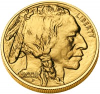 2009 American Buffalo Gold Bullion Coin, Obverse (2008 Version Shown) - Click to Enlarge