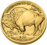 2009 American Buffalo Gold Bullion Coin, Reverse - Click to Enlarge