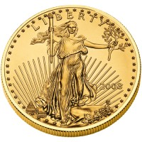 2009 American Eagle Gold Bullion Coin, Obverse (2008 version shown)- Click to Enlarge