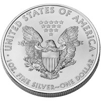 2009 American Eagle Silver Bullion Coin, Reverse - Click to Enlarge