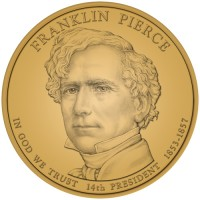 2010 Franklin Pierce Presidential $1 Coin, Obverse - Click to Enlarge