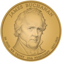2010 James Buchanan Presidential $1 Coin, Obverse - Click to Enlarge