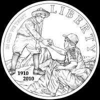 Boy Scouts Obverse Coin Design Recommended by the CCAC