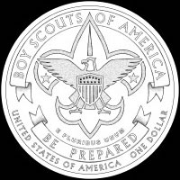 Boy Scouts Reverse Coin Design Recommended by the CCAC