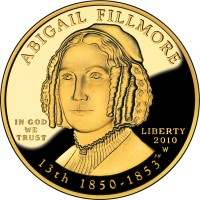 2010 Abigail Fillmore First Spouse Gold Proof Coin (Obverse Side) - Click to Enlarge