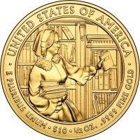 2010 Abigail Fillmore First Spouse Gold Uncirculated Coin (Reverse Side) - Click to Enlarge