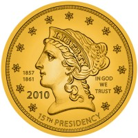 Buchanan Liberty First Spouse Gold Coin, Obverse - Click to Enlarge