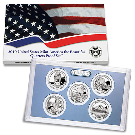 2010 America the Beautiful Quarters Proof Set - Click to Enlarge