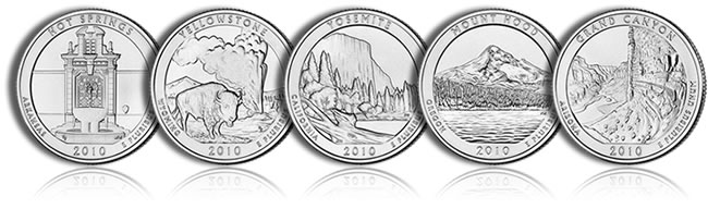 2010 America the Beautiful Quarters - Click to Enlarge