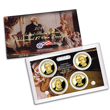 2010 Presidential Dollar Coin Proof Set - Click to Enlarge