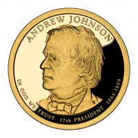 2011 Andrew Johnson Presidential $1 Coin (Obverse), US Mint image