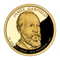2011 James Garfield Presidential $1 Coin (Obverse), US Mint image