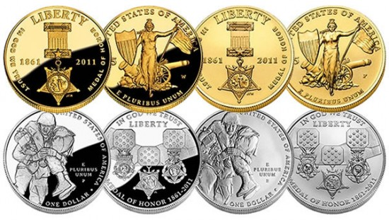 2011 Medal of Honor Commemorative Coins (US Mint images)