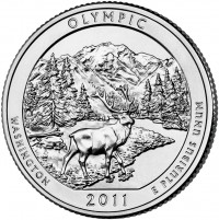 2011 Olympic National Park Quarter (US Mint image)