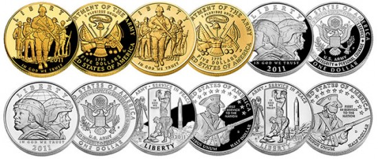 2011-U.S.-Army-Commemorative-Gold-Silver-and-Clad-Coins