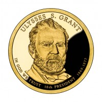 2011 Ulysses S. Grant Presidential $1 Coin (Obverse), US Mint image