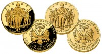 2011 US Army $5 Gold Coins (Proof and Uncirculated)
