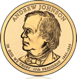 Andrew Johnson Presidential $1 Coin