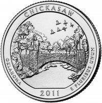 Chickasaw 5 oz Silver Coins (Image of Related Quarter Shown), US Mint image