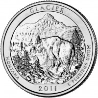 Glacier 5 oz Silver Coins (Image of Related Quarter Shown), US Mint image