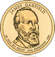 James Garfield Presidential $1 Coin