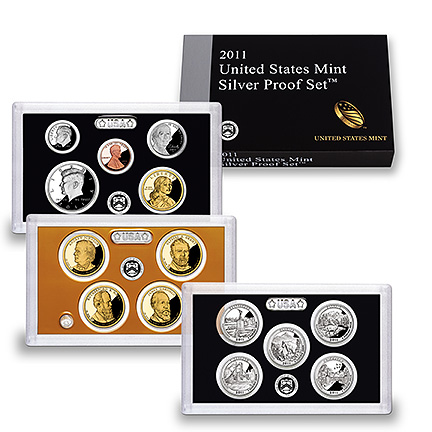 SILVER 14 coin  Proof Set 2011-s U.S Mint Original as minted by U.S