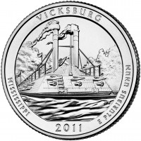 Vicksburg 5 oz Silver Coins (Image of Related Quarter Shown), US Mint image