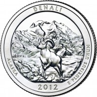 Denali America the Beautiful Quarter (US Mint image)