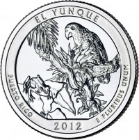 El Yunque America the Beautiful Quarter (US Mint image)